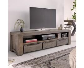 Industriálny moderný TV stolík Svea v sivej farbe 170cm