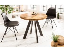 Industriálny dizajnový okrúhly jedálensky stôl Ivar z masívu 80 cm