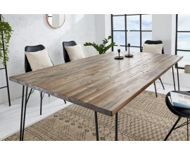 Industriálny jedálenský stôl Leeds akácia 160cm