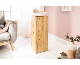 Štýlový moderný podstavec Eskil hranatého tvaru z masívneho agátového dreva svetlej farby