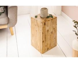 Exkluzívny moderný podstavec Eskil z masívneho agátového dreva v svetlohnedej farbe