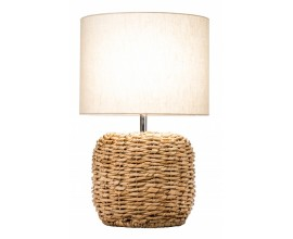 Vidiecka štýlová nočná lampa Fida biela 47cm