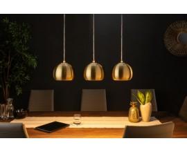 Dizajnový set 3 lámp závesných lámp Amaris zlaté