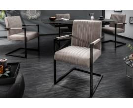 Retro dizajnová stolička Inspirativo tmavosivá 90cm