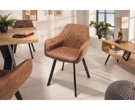 Moderná dizajnová stolička Ventura v hnedej farbe 59cm