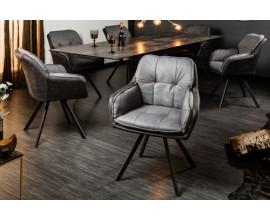 Retro kancelárska stolička Dex v sivej farbe 63cm
