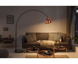 Štýlová lampa Urbano v modernom štýle v prevedení rosegold a s čiernou konštrukciou z kovu