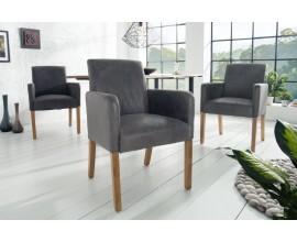 Moderná jedálenská stolička Sander so sivým poťahom 61cm