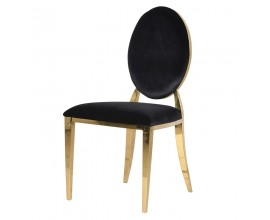 Art-deco dizajnová jedálenská stolička Shantay čierna