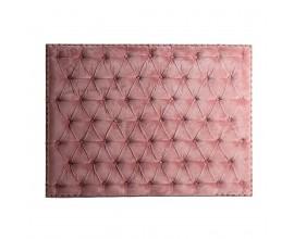 Štýlové chesterfield čelo postele Alvaro v ružovej farbe 160cm