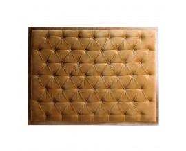 Štýlové chesterfield čelo postele Alvaro v horčicovej farbe 163cm