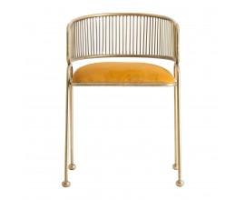 Art-deco dizajnová jedálenska stolička Eugene kovová