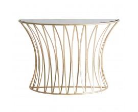 Art-deco luxusný konferenčný stolík Basey sklenený