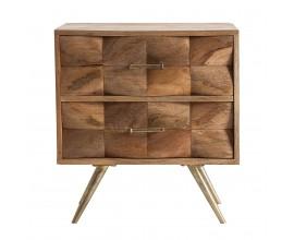 Moderný nočný stolík Duran z brestového dreva 60cm