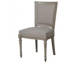 Vidiecka stolička Crema so sivým čalúnením 100cm