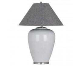 Moderná dizajnová keramická lampa Eldrico sivá 108 cm