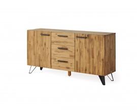 Industriálny luxusný príborník Anselmo z masívneho dreva 160cm