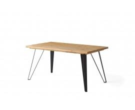 Industriálny masívny luxusný jedálenský stôl Anselmo 160cm