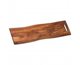 Dizajnová doska na krájanie Live Edge 76 cm z masívneho dreva Akácia