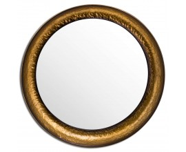 Orientálne kruhové zrkadlo Clareta mosadzné 70cm