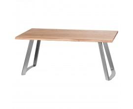Industriálny dizajnový jedálenský stôl Live Edge pieskovaný