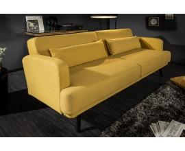 Dizajnová škandinávska rozkladacia dvojsedačka Sheena 210cm žltá
