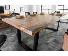Masívny dizajnový jedálenský stôl Spin 160cm Sheesham