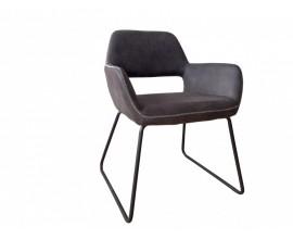 Retro dizajnová sivá stolička Pala s opierkami na ruky 79cm