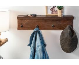 Vidiecky štýlový vešiak Hemingway z recyklovaného dreva 60cm