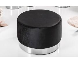 Dizajnová taburetka Modern Barock v čiernej farbe 55cm