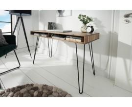 Masívny dizajnový kancelársky stôl Leeds 110cm