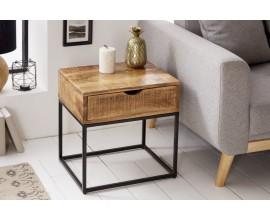 Industriálny príručný stolík Steele Craft 45cm mango