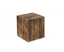 Štýlový príručný stolík z masívu Cascara hnedý