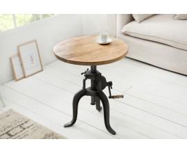Industriálny príručný stolík Steele Craft 50cm mango