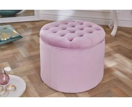 Moderná taburetka Modern Barock svetloružová 50cm