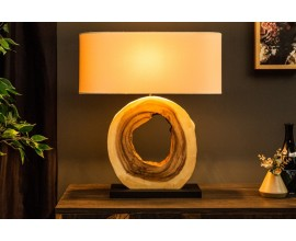 Masívna dizajnová stolná lampa Alaska 63cm