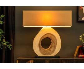 Masívna dizajnová široká stolná lampa Alaska 77cm