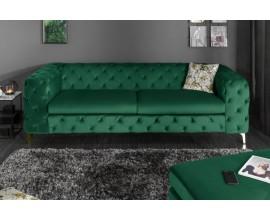 Chesterfield luxusná sedačka Freya tmavozelená 240cm