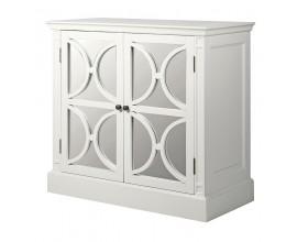 Dizajnová biela skrinka Blanché z masívu