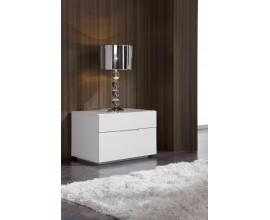 Lesklý moderný nočný stolík Napoleone 40cm biely