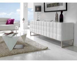 Moderný príborník Donato 198cm so štyrmi dvierkami v bielej farbe