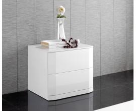Lesklý moderný nočný stolík Napoleone 46cm biely