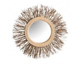 Dizajnové zrkadlo Plythe v bambusovom ráme 33cm