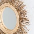 Jedinečné zrkadlo Plythe v drevenom ráme
