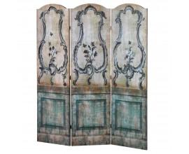 Luxusný paraván antická modrá 180 cm