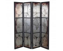Luxusný zrkadlový paravan 180 cm