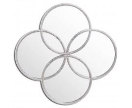 Dizajnové nástenné zrkadlo LIFE 91cm strieborné