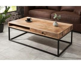 Dizajnový konferenčný stolík z masívu Steele Craft 100cm