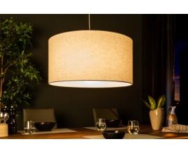 Dizajnová okrúhlá závesná lampa Cherire 50cm svetlo šedá