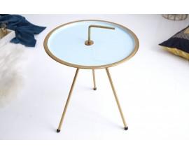 Jedinečný príručný stolík Gedling Turquoise Gold